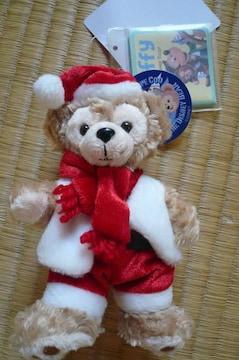 ディズニーシーダッフィークリスマス2010ぬいぐるみバッジ新品