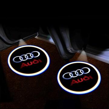 アウディ 2個 メーカーロゴ カーテシランプ/ウェルカムライト