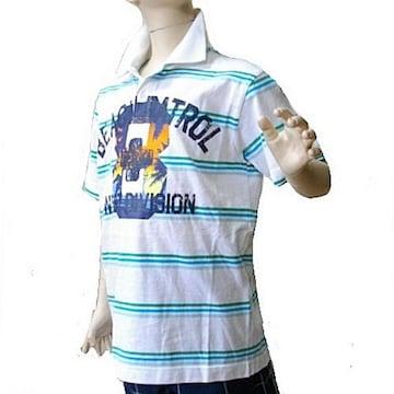 新品160cm★OLDNAVY白・ビーチ8ポロシャツ送料無料
