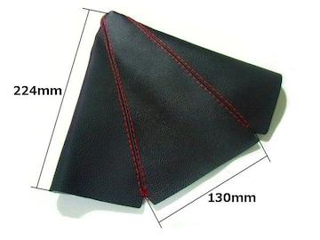 汎用シフトノブブーツカバー/PVCレザー/赤ステッチ/MTミッション