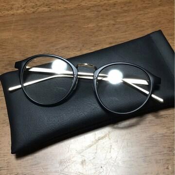 新品同様 JUGLANS ボストン型サングラス 伊達メガネ UV400レンズ