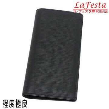 本物美品◆ルイヴィトン【人気】長財布ブラザ(エピレザー黒/箱