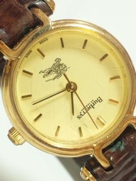 10356/Burberrys高級感漂うレディース腕時計リザードデザインレザー革