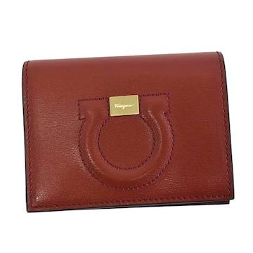 ◆新品本物◆サルヴァトーレフェラガモ 2つ折財布(RED)『22D514』◆