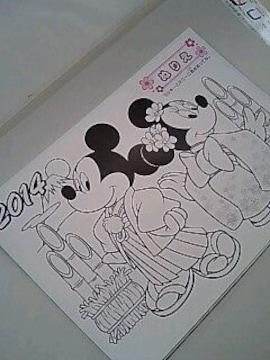 ☆ミッキー&ミニー ぬりえ☆10枚