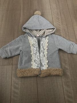 ベビチビ女の子パーカー70羽織り