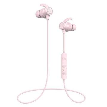 Bluetooth イヤホン防水進化版 IPX6対応 ピンク