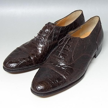 【フェラガモ】クロコダイル ストレートチップ 革靴 ブ