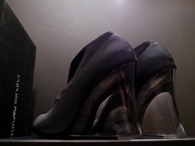 新同◆EMPORIOARMANI アルマーニ クリアソール ブーティ◆ブーツ < ブランドの