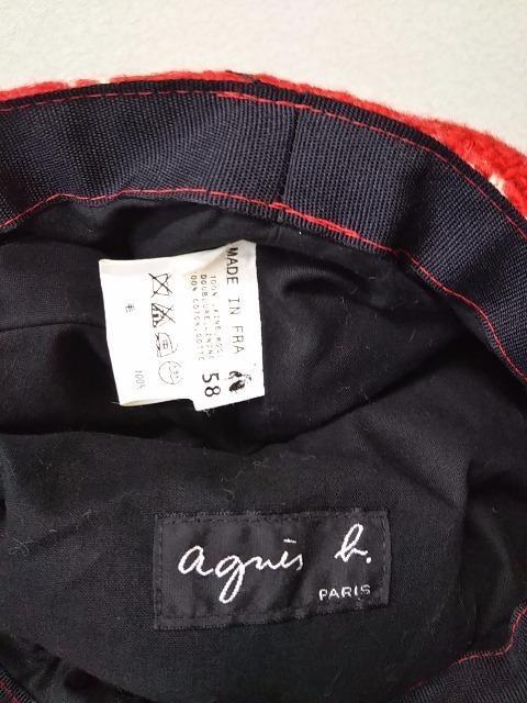 ◆agnes b.アニエスベー◆ウールキャスケットフランス製帽子 < ブランドの