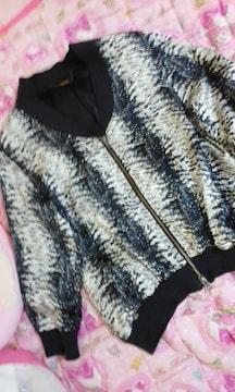 unsQueakyシルク混ツルテロ素材七分袖薄手ジャケット日本製