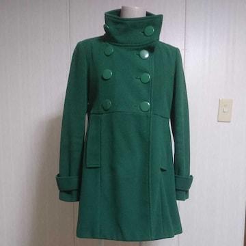 グリーン 緑 コート 難ありでお安く