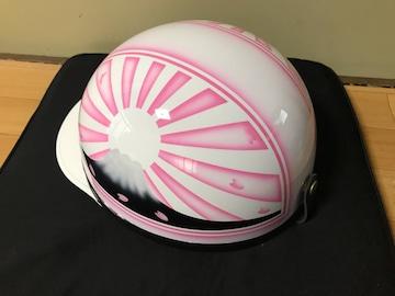 ピンク 富士日章 コルク半 ヘルメット 三段シート BEET