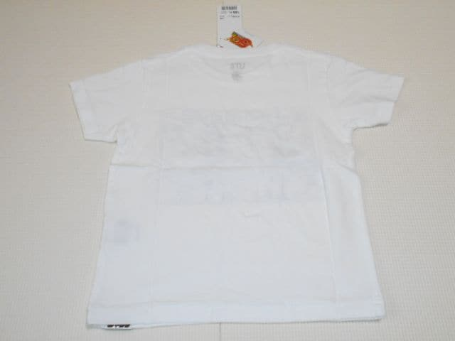 UNIQLO ONE PIECE 半袖Tシャツ ホワイト 100サイズ ジャンプ50th < ブランドの