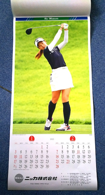女子プロゴルフ 「2021 CALENDER LADIES GOLF」 カレンダー 新品 < レジャー/スポーツの