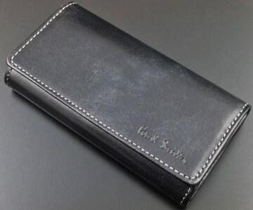 新品★ポールスミス ハンドステインカーフ キーケース 黒