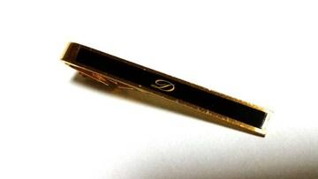 正規 入手困難 S.T.Dupont デュポン Dロゴ ブラック×ゴールドネクタイピン黒