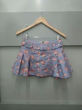 LIZ LISA☆デニム薔薇柄スカパン