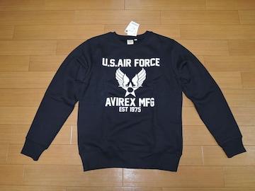 新品アヴィレックスAVIREXスウェットM紺系U.S.AIR FORCE