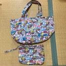 ヒスミニ☆トートバック&ハンドバッグ2点セット!ビンテージ風