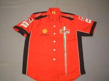 ★激安★F1★Ferrari★Team★ピットシャツ★L★赤★新品★SALE★