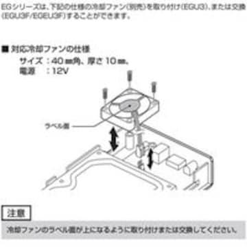 ☆Logitec EGシリーズ用冷却ファン【LHR-EGFAN】