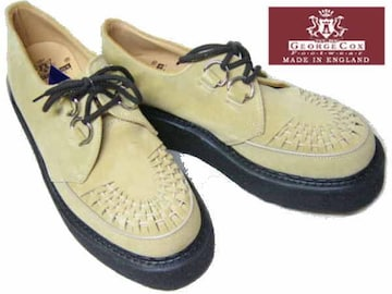 ジョージコックス新品ラバーソール3588サンド スエード厚底靴4
