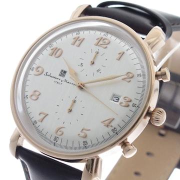 サルバトーレマーラ クロノ クオーツメンズ腕時計SM18109-PG