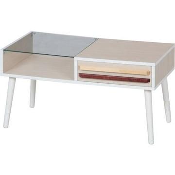 リビングテーブル オスロ HH-8040PG WHW