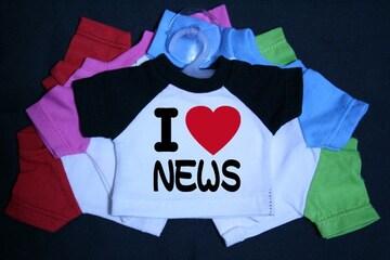 I LOVE ミニTシャツ NEWS 各色有り