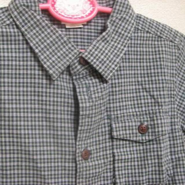 ギャップ 半袖 ボタン シャツ 80cmくらい!? チェック < キッズ/ベビーの