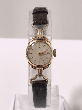 T254★CITIZEN 14K 17JEWELS PHYNOX 手巻き 腕時計