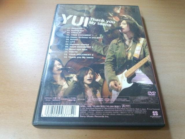 YUI DVD「Thank you My teens」● < タレントグッズの