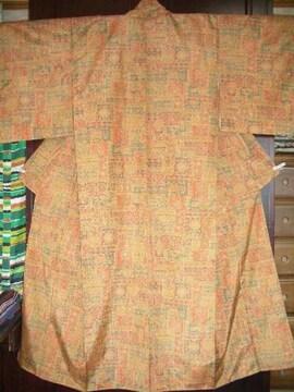 壺花器紋様の 袷のお着物  未使用品