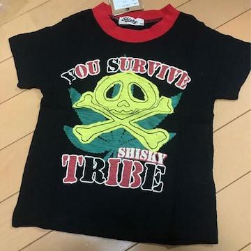 新品◆ドクロアップリケ◆半袖Tシャツ◆130 マリファナ