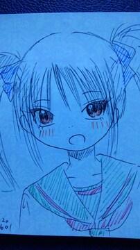 滋賀県の女の子オリジナル自作イラスト原画