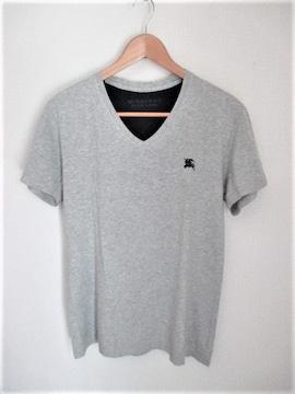 ☆バーバリーブラックレーベ ホース刺繍 Vネック Tシャツ/メンス/3