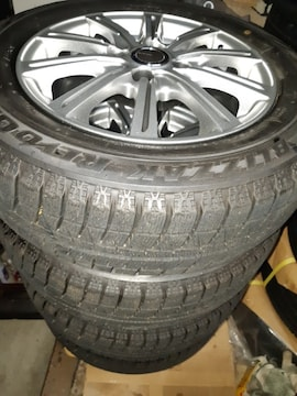 175/65R14 スタッドレスタイヤ、アルミホイール付4本セット