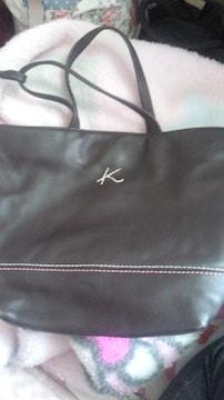 本物キタムラレザーハンドバッグ