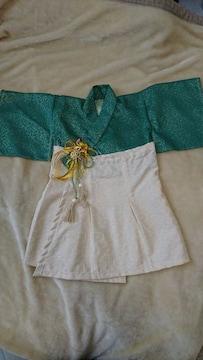 キ20  送込 新品☆ハンドメイド♪羽織袴風ドレス