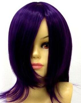 即納可能★即決★フルウィッグ ショート 紫/パープル D4