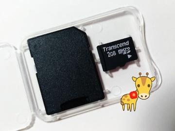 送料無料 即決 トランセンド microSD 2GB マイクロSD 初期不良保証します