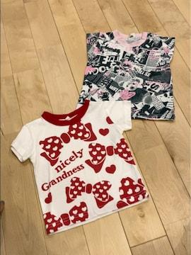写真プリントオシャレデカリボンが可愛いTシャツお得な2点セット