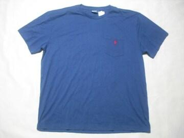 14 男 POLO RALPH LAUREN ラルフローレン 紺 半袖Tシャツ L
