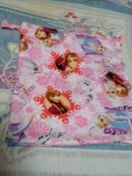 ディズニーアナ雪巾着袋ピンク