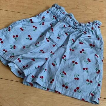 ショートパンツ/半ズボン/さくらんぼ/チェリー柄/130�p