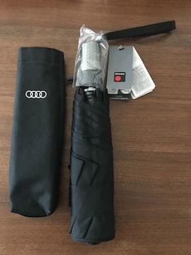 新品★クニルプス Knirps 折りたたみ傘 ワンタッチ自動開閉機能 Audi 黒