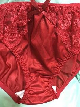 ツルツル 薔薇刺繍可愛い系5L レッド