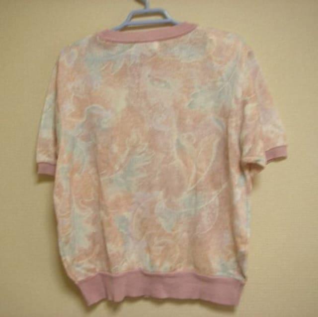 綺麗色 ピンク系 半袖 セーター ニット L < 女性ファッションの