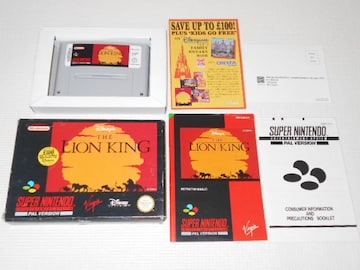 SFC★THE LION KING SNES 海外版